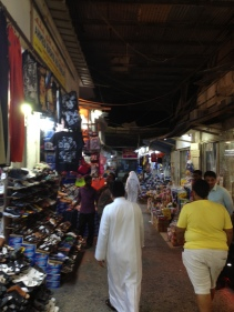 Adventuring through a local market, or souk (سوق) as they call it here.