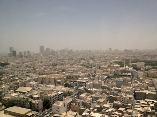 """Old Manama"" as seen from atop Al Zamil Tower"