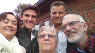 Clockwise from left: my host mother, Dot, me, my host father, Jan, Jan's father Jørn and Jan's mother Mie.