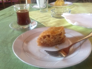 Turska čaj and baklava in Sarajevo, BiH. Photo by Emilija Lafond.