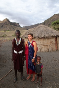 My pictured with Jackson, a warrior in my boma