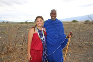 My Maasai father, Matthew, and me
