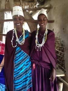 My Maasai sister and her friend
