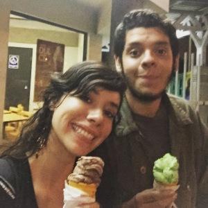 Mi amigo tico, Ariel! I treated him to ice cream after he helped me with my Spanish grammar!