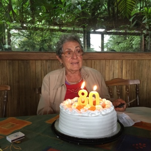 The USAC family celebrated Delia Maria's 80th birthday. After she blew out her candles, she began to get teary-eyed and then so did everyone else at our table!