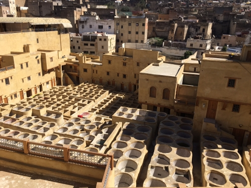 Leather tanneries of Fez