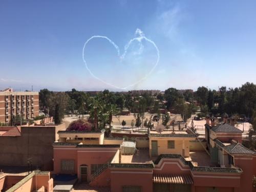 Air show in Marrakesh