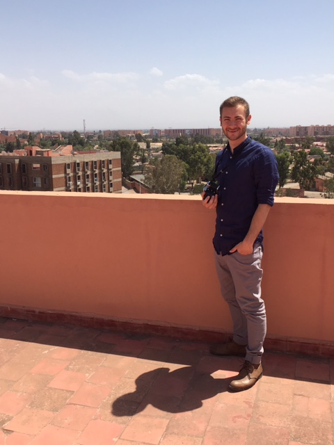 Me standing on the roof of our apartment in Marrakesh