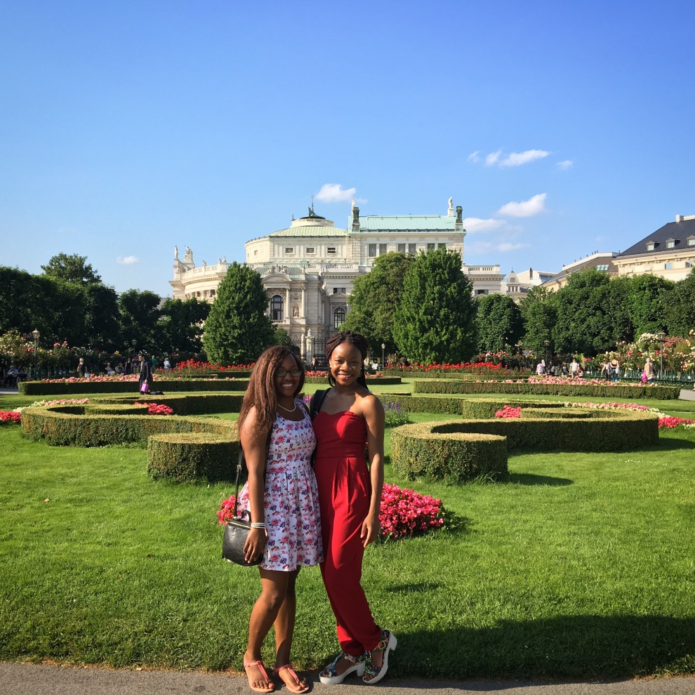 Akilah and I in Volksgarten!