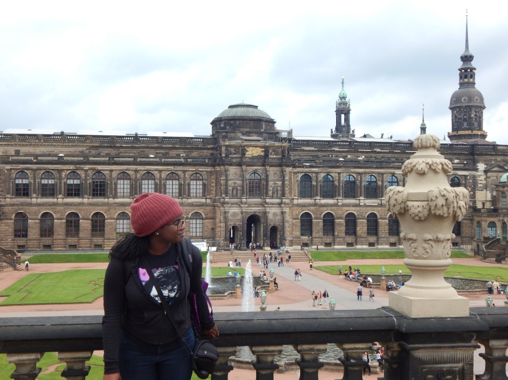 I'm not fond of being the subject of photos but I really loved the historic architecture that my friends and I encountered in Dresden and had to remember my reaction to the moment.