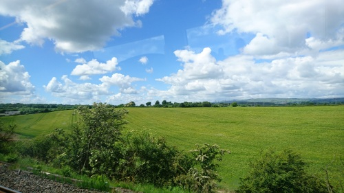 British countryside seen from the train