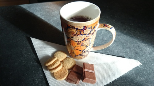 chocolate and shortbread
