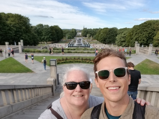 Mom and I Exploring Oslo, Norway.
